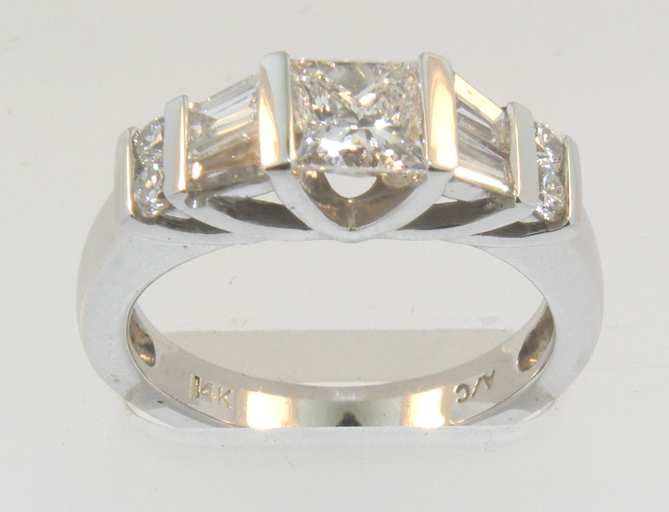 Princess And Baguette Diamond Ring