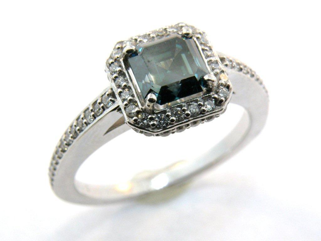 Teal Diamond Ring
