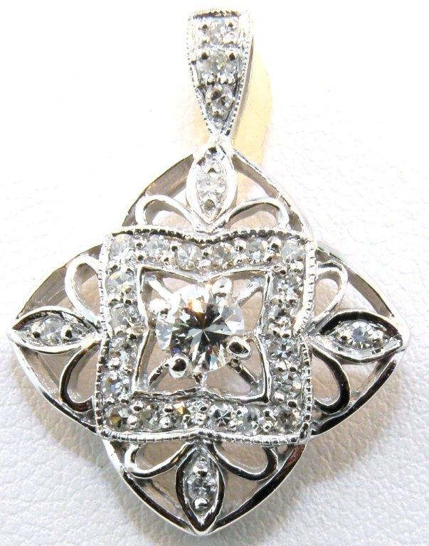 Harbor jewelers custom jewelry example work diamond filigree pendant aloadofball Choice Image