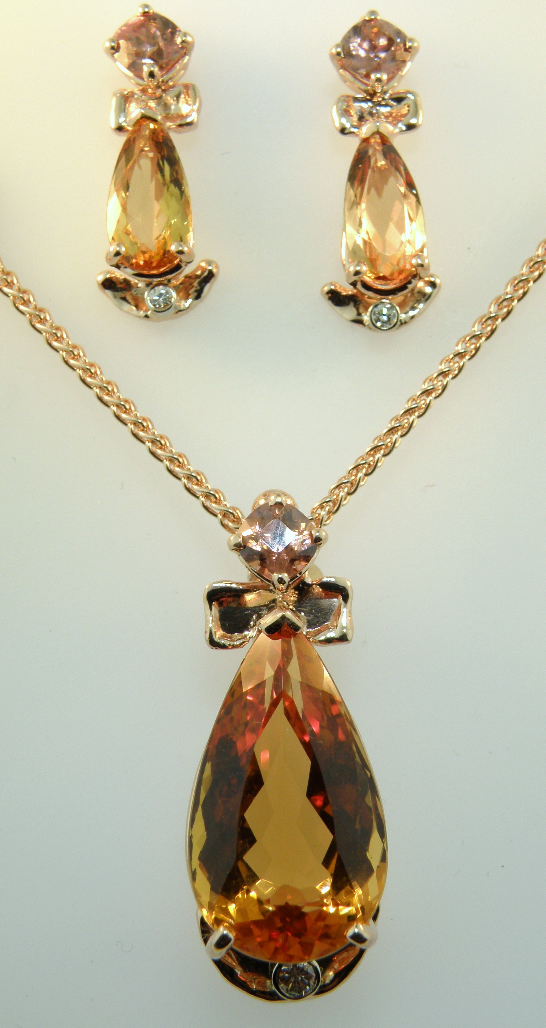 Harbor jewelers gold jewelry example work imperial topaz pendant and earring set aloadofball Image collections